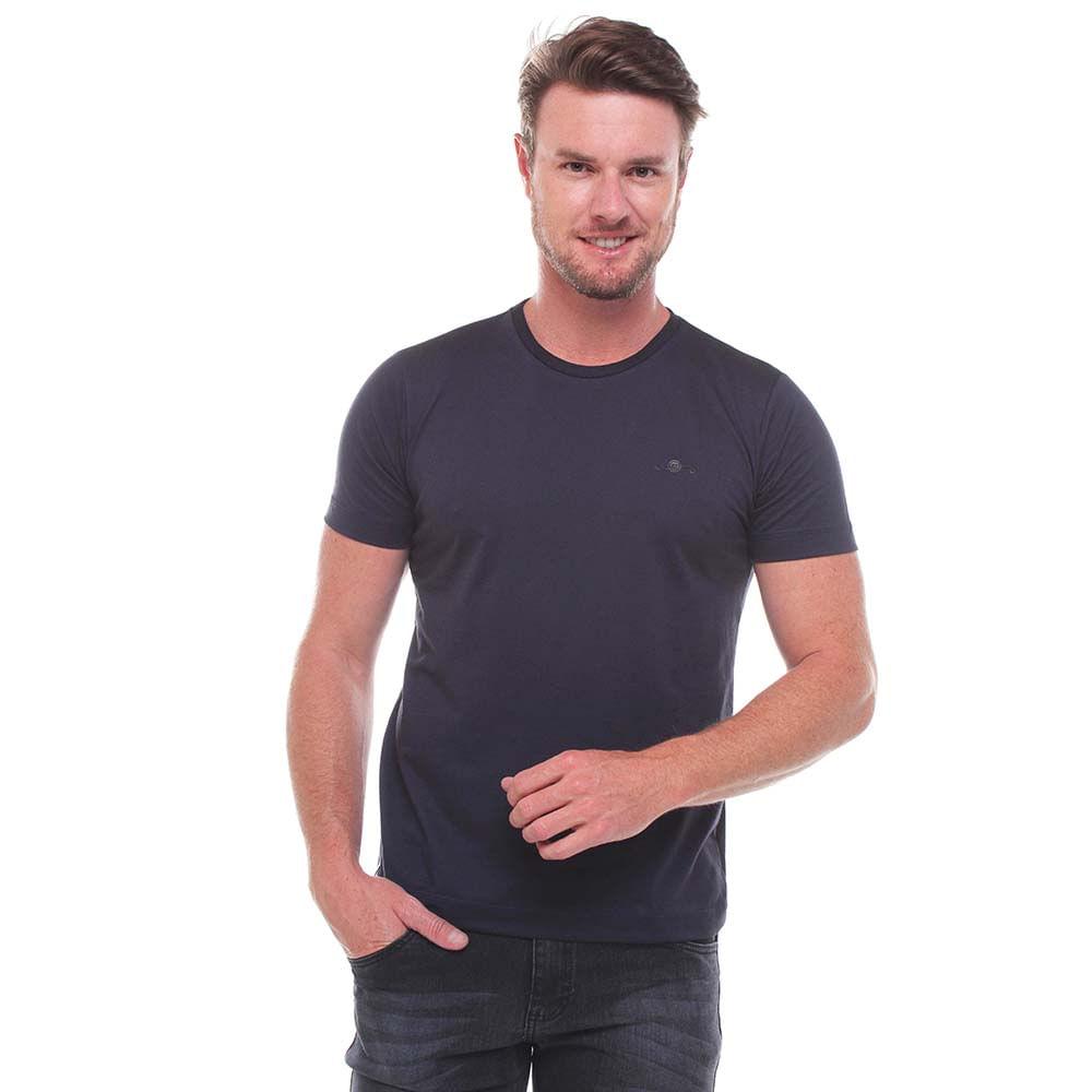 Camiseta Básica Gola V Fio A Fio