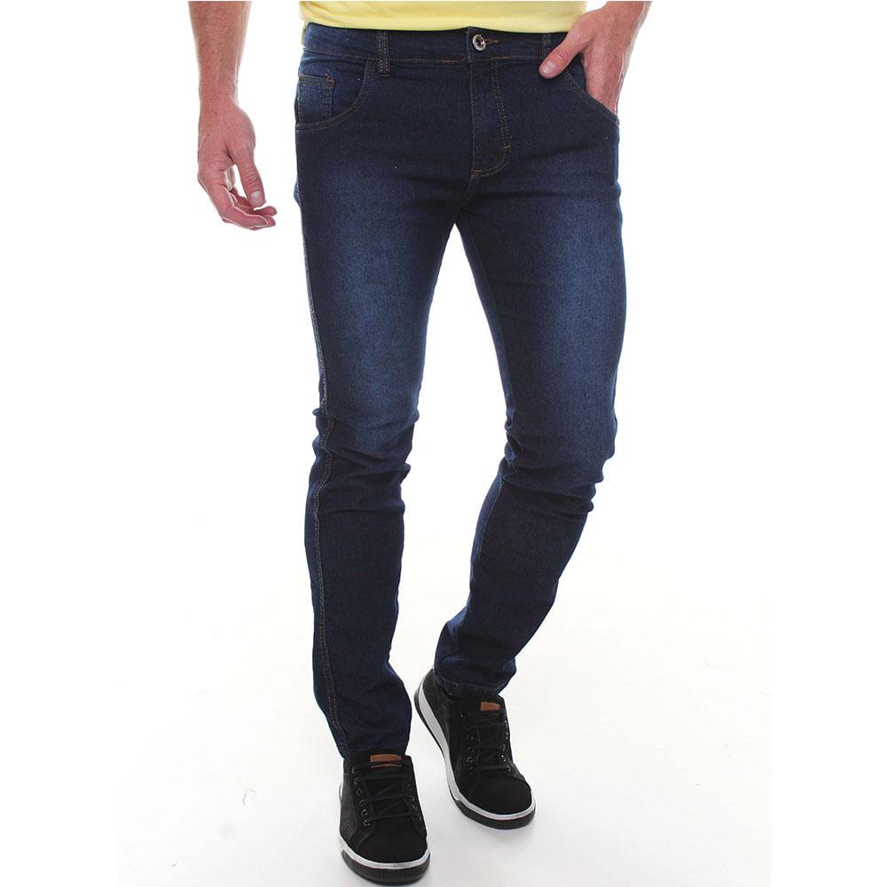 Calça Jeans Básica Algodão Elastano